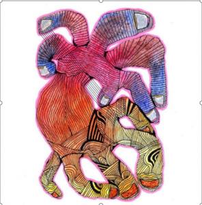 Dibujo del Maestro Miguel Ángel Gélvez Ramírez - Corporal 16/20 - Arti - Tienda de arte y diseño