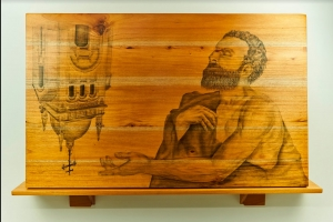 Obra  de Maestro Joan Suarez - Aceptación por la no Redención y Rechazo a su Aureola - Arti - Tienda de arte y diseño