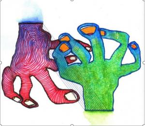 Dibujo del Maestro Miguel Ángel Gélvez Ramírez - Corporal 15/20 - Arti - Tienda de arte y diseño
