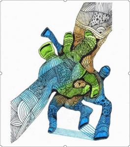Dibujo del Maestro Miguel Ángel Gélvez Ramírez - Corporal 20/20 - Arti - Tienda de arte y diseño