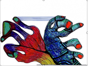 Dibujo del Maestro Miguel Ángel Gélvez Ramírez -  Corporal 1/20  - Arti - Tienda de arte y diseño